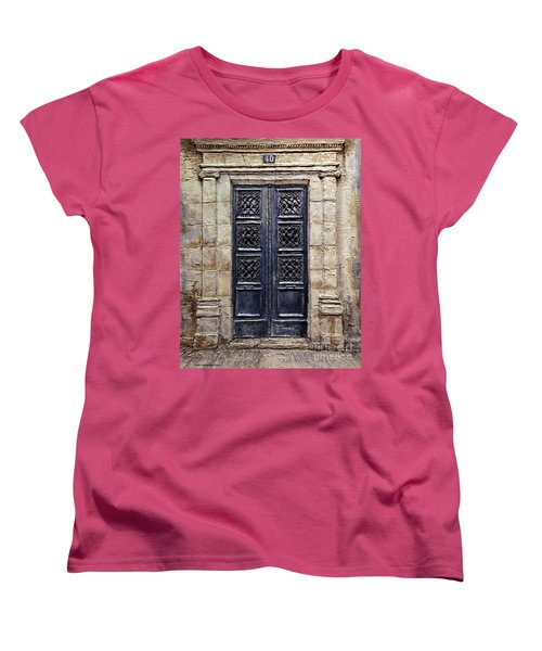 Parisian Door No.40 Women's T-Shirt (Standard Cut) by Joey Agbayani