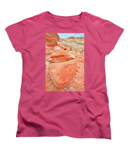 Women's T-Shirt (Standard Cut) featuring the photograph Park Road View In Valley Of Fire by Ray Mathis