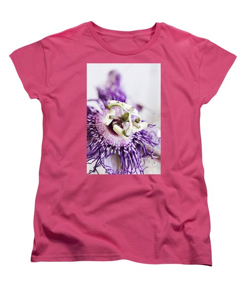 Passion Flower Women's T-Shirt (Standard Cut) by Stephanie Frey