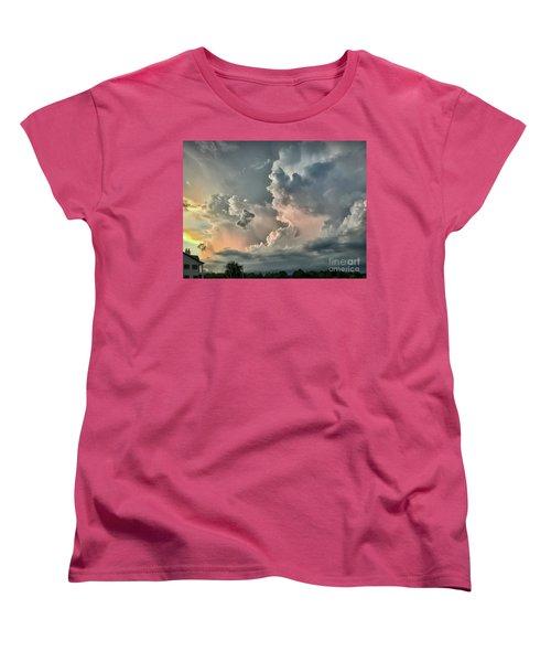 Pastel Clouds Women's T-Shirt (Standard Cut) by Walt Foegelle
