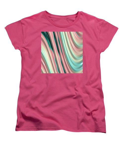 Pastel Fractal 2 Women's T-Shirt (Standard Cut) by Bonnie Bruno