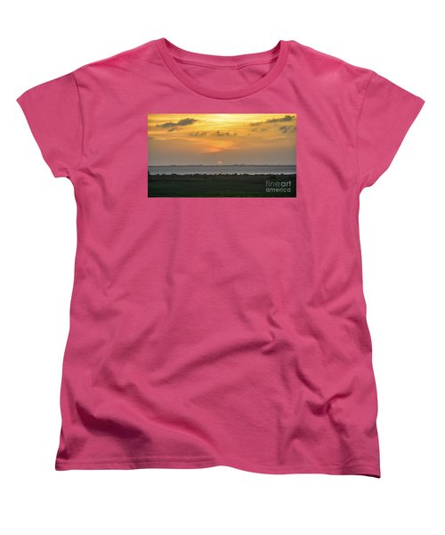 Women's T-Shirt (Standard Cut) featuring the photograph Pastel Sky by Debra Martz