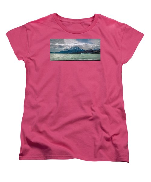Women's T-Shirt (Standard Cut) featuring the photograph Patagonia Lake by Andrew Matwijec