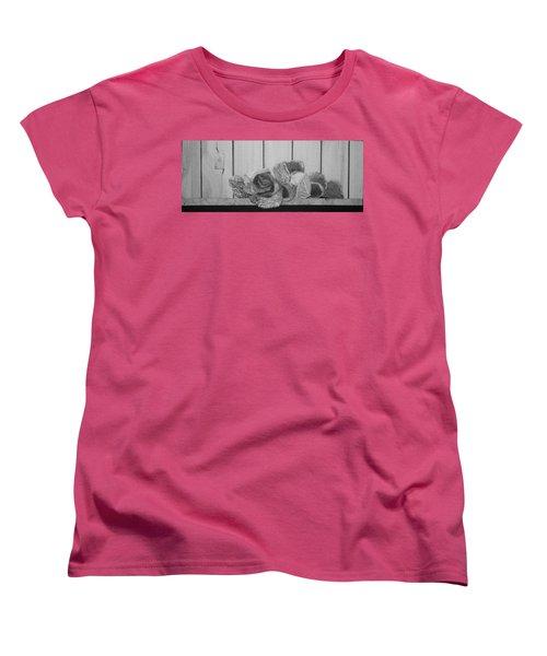 Women's T-Shirt (Standard Cut) featuring the painting Patch Work by A  Robert Malcom