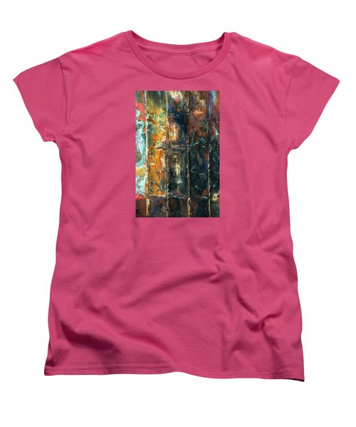Women's T-Shirt (Standard Cut) featuring the photograph Patchworks 2 by Newel Hunter