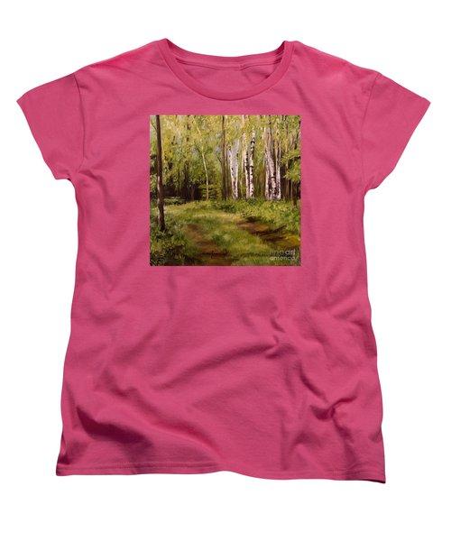 Path To The Birches Women's T-Shirt (Standard Cut)