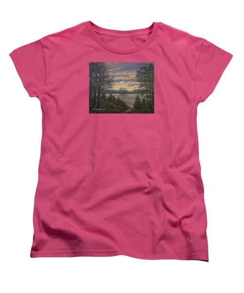 Women's T-Shirt (Standard Cut) featuring the painting Path To The River by Kathleen McDermott