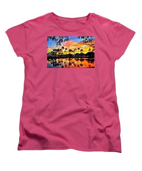 Women's T-Shirt (Standard Cut) featuring the digital art Path To The Sea by DJ Florek