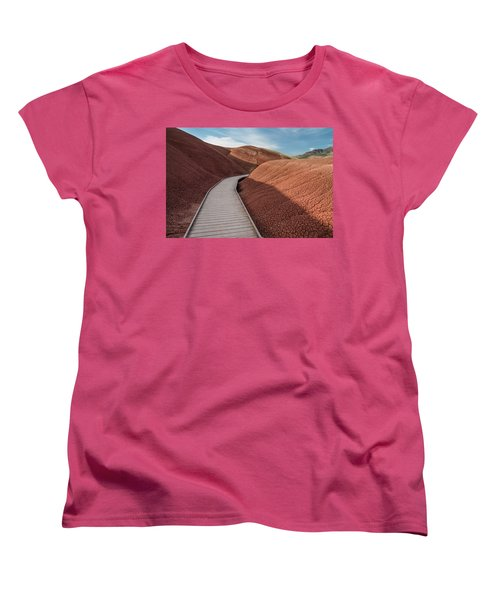 Women's T-Shirt (Standard Cut) featuring the photograph Pathway Through The Reds by Greg Nyquist