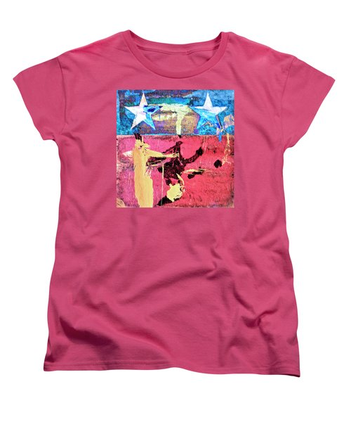 Women's T-Shirt (Standard Cut) featuring the painting Patriot Act by Dominic Piperata