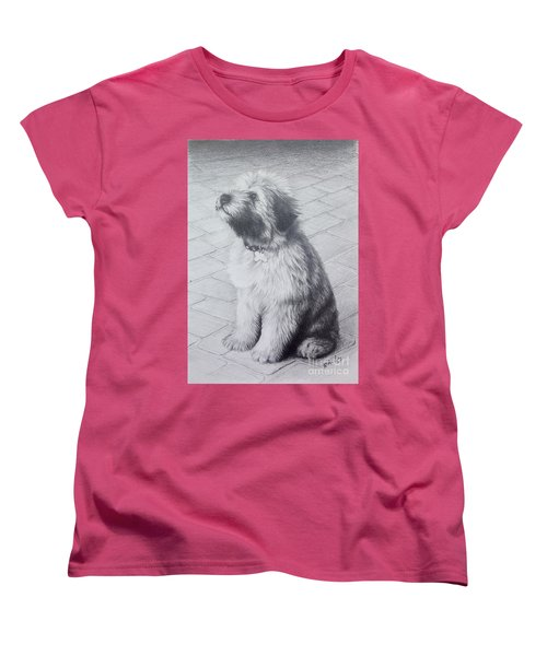 Patsy's Puppy Women's T-Shirt (Standard Cut) by Mike Ivey
