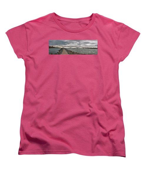 Peace Bridge Women's T-Shirt (Standard Cut) by Guy Whiteley