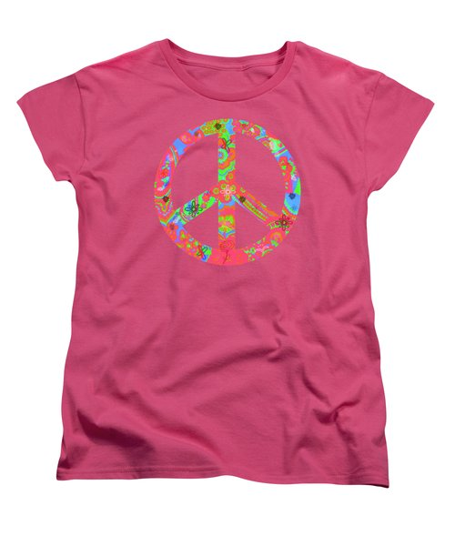 Women's T-Shirt (Standard Cut) featuring the digital art Peace by Linda Lees