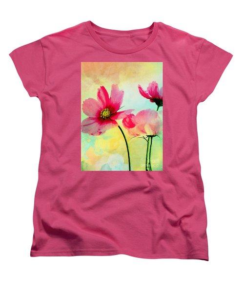 Women's T-Shirt (Standard Cut) featuring the digital art Peacefulness by Klara Acel