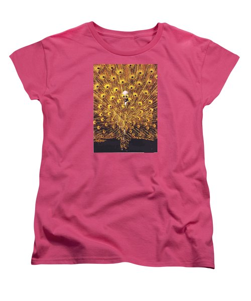 Peacock Man Women's T-Shirt (Standard Cut) by Seth Weaver