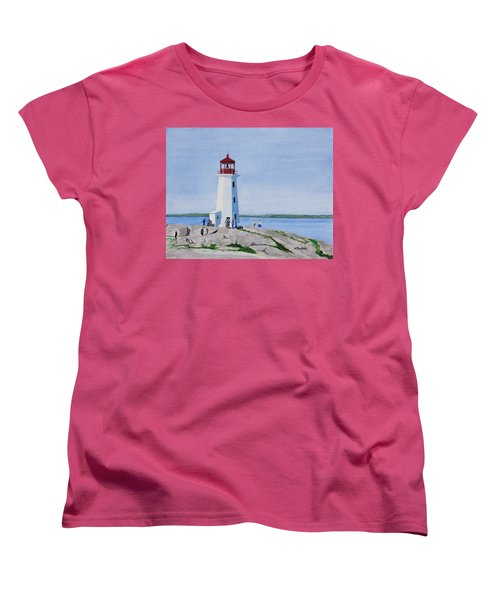 Peggy's Point Lighthouse Women's T-Shirt (Standard Cut) by Mike Robles