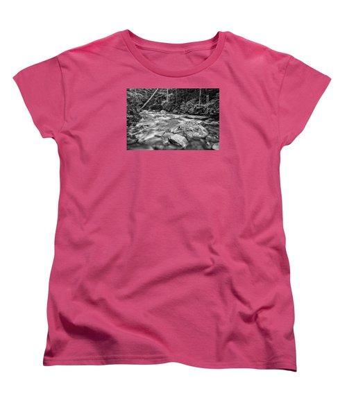 Pemi River Black-white Women's T-Shirt (Standard Cut) by Michael Hubley