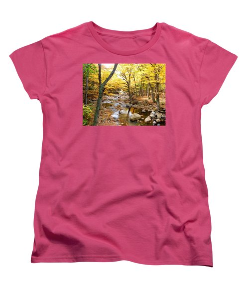 Pemigwasett River At The Flume Women's T-Shirt (Standard Cut) by Catherine Gagne