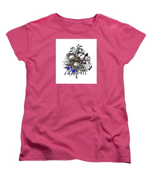 Women's T-Shirt (Standard Cut) featuring the drawing Pen And Ink Drawing Apples Wall Decor  by Saribelle Rodriguez