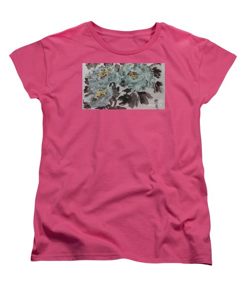 Peoney20161229_5 Women's T-Shirt (Standard Cut) by Dongling Sun