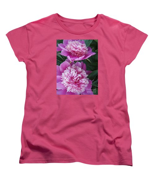 Peony Women's T-Shirt (Standard Cut) by Kristine Nora