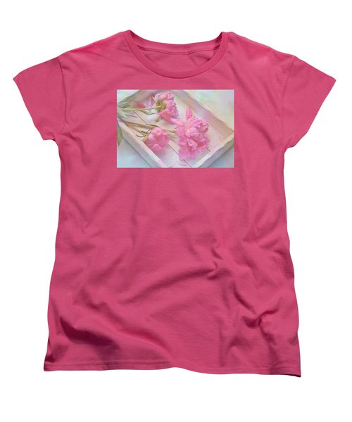 Peonies In White Box Women's T-Shirt (Standard Cut) by Diane Alexander