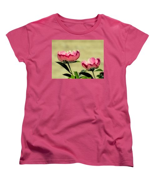 Peony Pair - Enhanced Women's T-Shirt (Standard Cut) by MTBobbins Photography