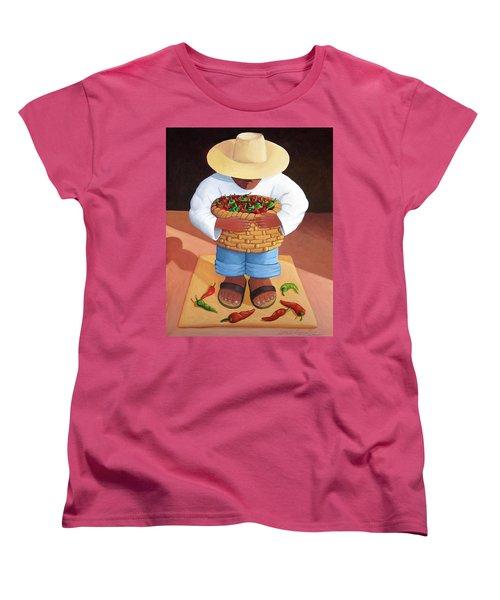 Pepper Boy Women's T-Shirt (Standard Cut) by Lance Headlee