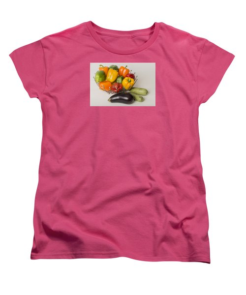 Pepper To Squash Women's T-Shirt (Standard Cut) by Laura Pratt