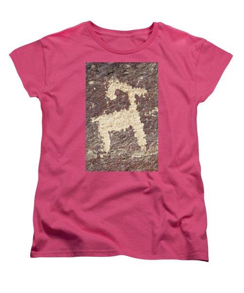Petroglyph - Fremont Indian Women's T-Shirt (Standard Cut) by Breck Bartholomew