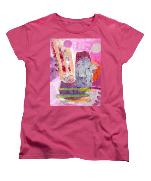 Women's T-Shirt (Standard Cut) featuring the painting Phases by Mary Schiros