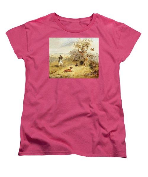 Pheasant Shooting Women's T-Shirt (Standard Cut) by Henry Thomas Alken