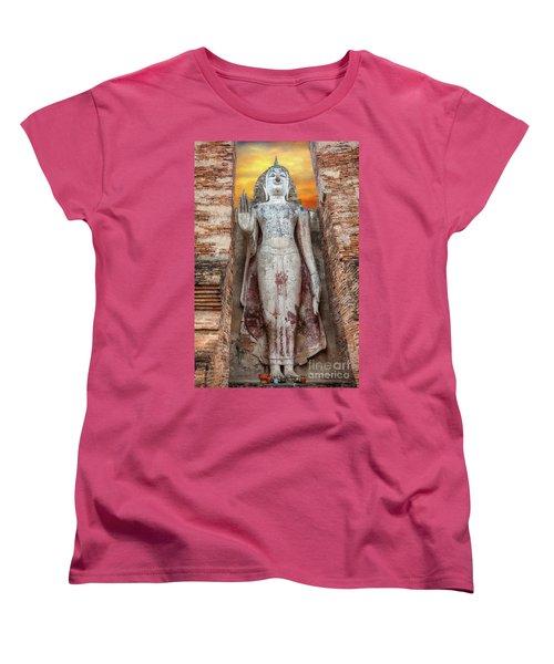 Women's T-Shirt (Standard Cut) featuring the photograph Phra Attharot Buddha by Adrian Evans
