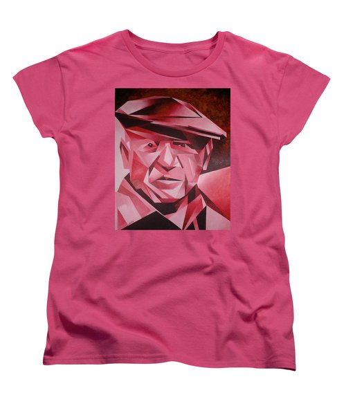 Picasso Portrait The Rose Period Women's T-Shirt (Standard Cut) by Tracey Harrington-Simpson