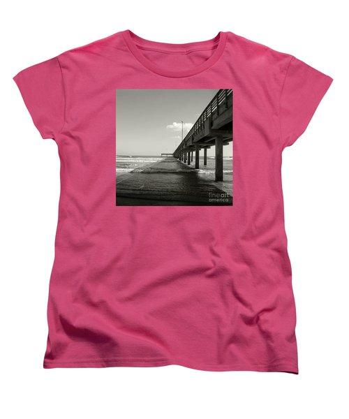 Pier 1 Women's T-Shirt (Standard Cut) by Sebastian Mathews Szewczyk