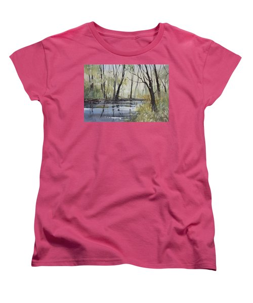 Pine River Reflections Women's T-Shirt (Standard Cut) by Ryan Radke