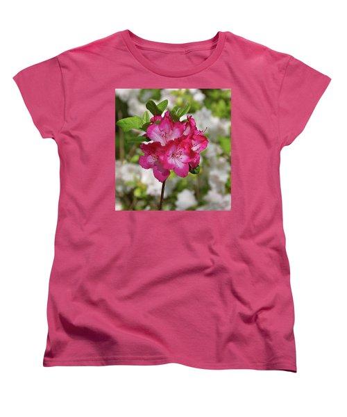 Women's T-Shirt (Standard Cut) featuring the photograph Pink Azalea by Sandy Keeton