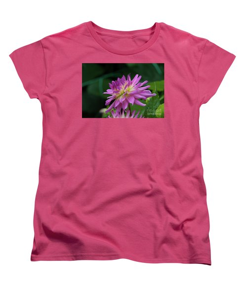 Pink Dahlia Women's T-Shirt (Standard Cut) by Glenn Franco Simmons