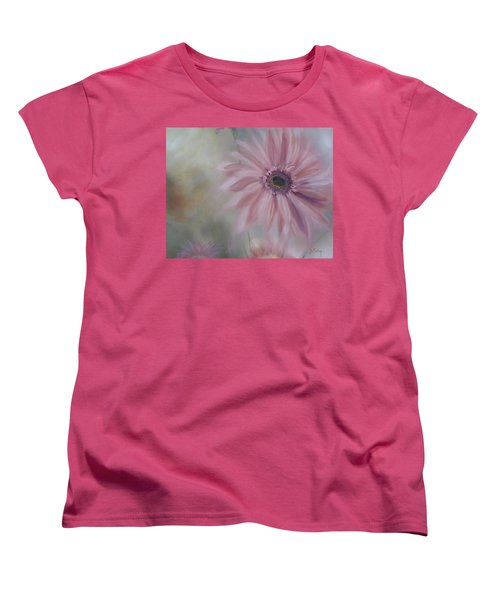 Women's T-Shirt (Standard Cut) featuring the painting Pink Daisies by Donna Tuten