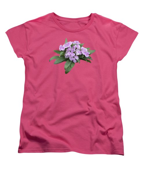 Pink Floral Cutout Women's T-Shirt (Standard Cut) by Linda Phelps