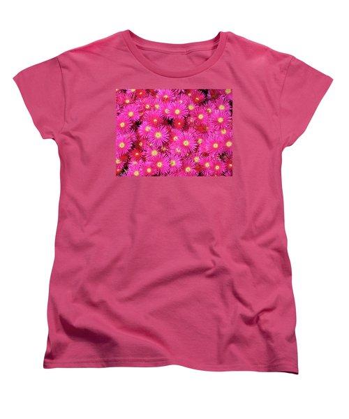 Pink Flower Explosion Women's T-Shirt (Standard Cut) by Mark Barclay