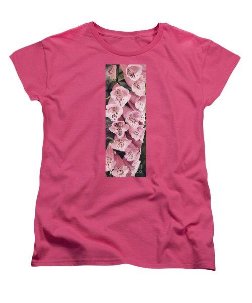 Pink Foxglove Women's T-Shirt (Standard Cut) by Laurie Rohner