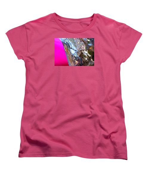 Women's T-Shirt (Standard Cut) featuring the photograph Pink Lustre  by Prakash Ghai
