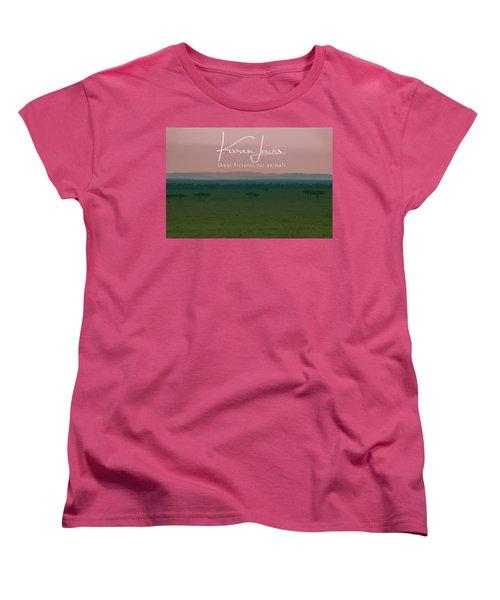 Women's T-Shirt (Standard Cut) featuring the photograph Pink Mara Dawn by Karen Lewis