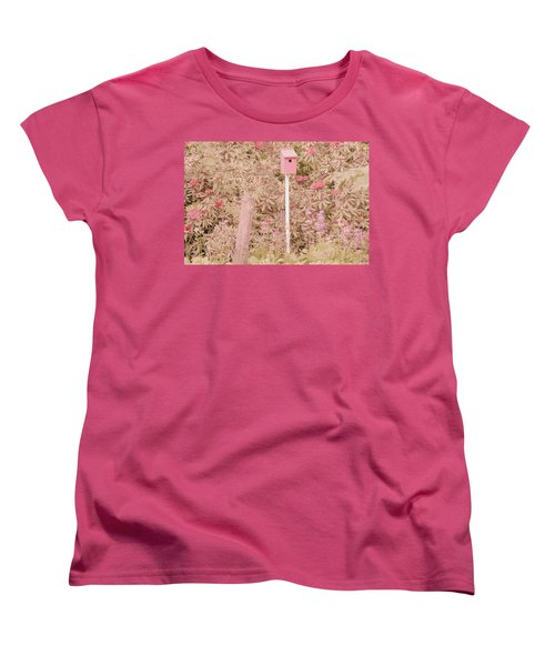 Women's T-Shirt (Standard Cut) featuring the photograph Pink Nesting Box by Bonnie Bruno