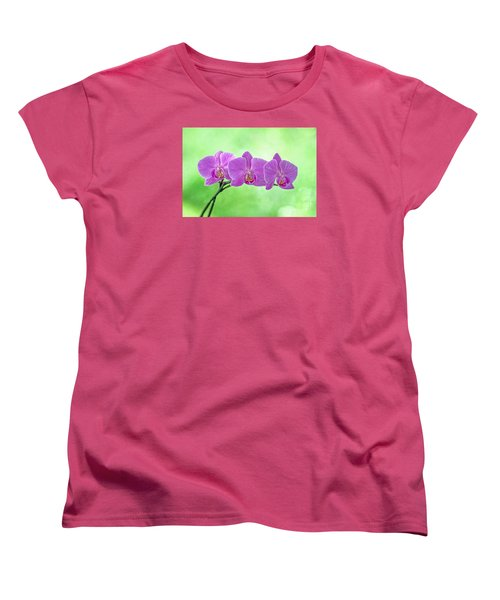 Women's T-Shirt (Standard Cut) featuring the photograph Pink Orchids by Alana Ranney