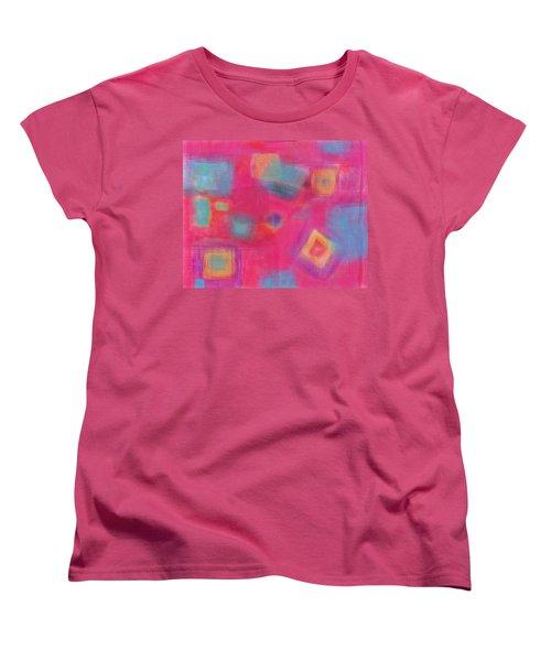 Pink Play Women's T-Shirt (Standard Cut) by Susan Stone