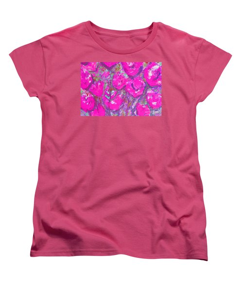 Pink Poppies Women's T-Shirt (Standard Cut) by Gallery Messina