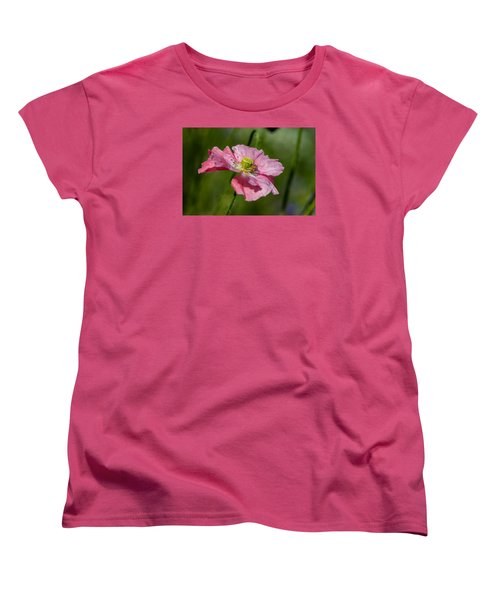 Pink Poppy Women's T-Shirt (Standard Cut) by Martina Fagan