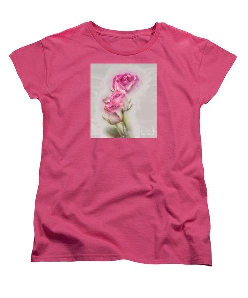 Pink Roses Women's T-Shirt (Standard Cut)